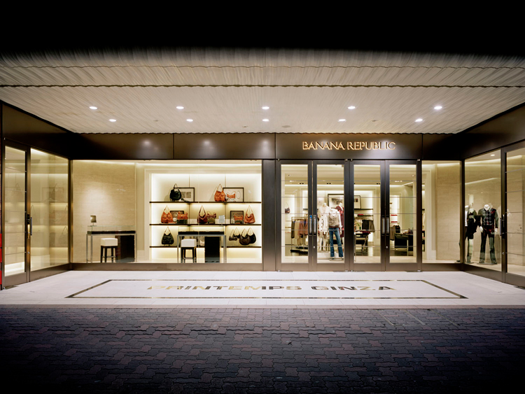 Banana Republic First Store Front in Japan
