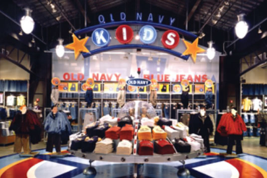 Old Navy Kids in-store display